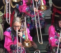 Luzern Sokaklarında Swiss Karnavalı