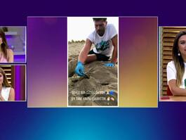 Kıvanç Tatlıtuğ'dan deniz kaplumbağalarına yardım!